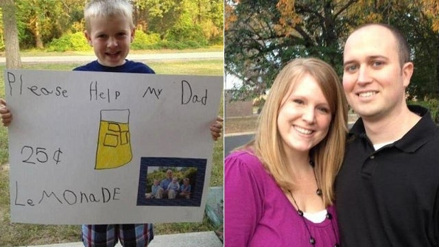 Kid Earns Over $10,000 Selling Lemonade To Help Cancer-Stricken Father
