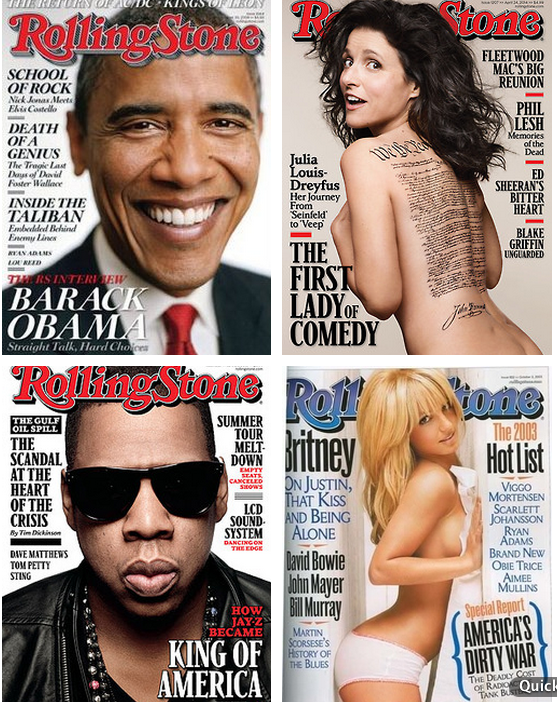 On the Covers of Rolling Stone