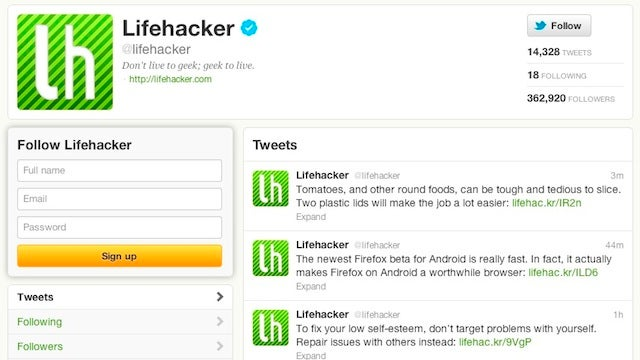 Follow Lifehacker and Our Writers on Twitter for All The Best Tips, Our Writers for Added Conversation