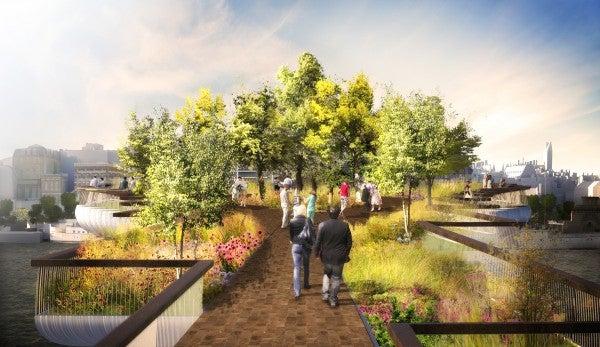 London's Plan To Build A Garden Bridge Over The Thames
