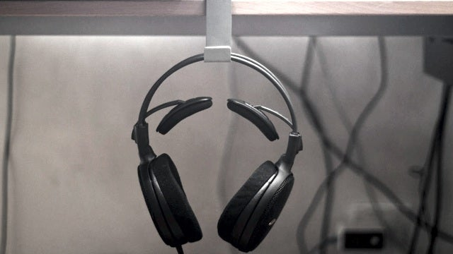Hang Headphones Off the Side of Your Desk with this Metal Stand