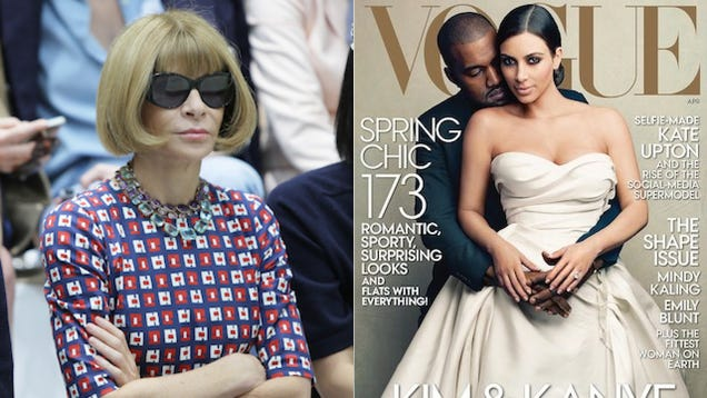 Anna Wintour Put Kimye on the Cover of Vogue Because They're Tacky