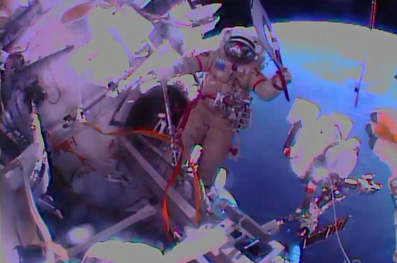 An Olympic Torch just went on a spacewalk