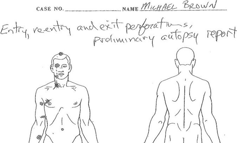Autopsy Report: Michael Brown Was Shot at Least Six Times