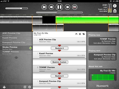 Play DJ on Your iPad, Mixing Up To Four Songs Together With the Numark iDJ App