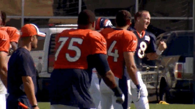 Peyton Manning Dances Up A Dorky Storm