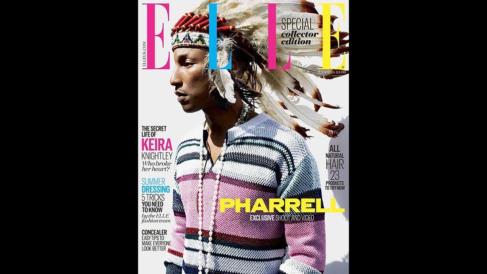 Pharrell Wears Headdress For Elle UK, Critics Are Not 'Happy'