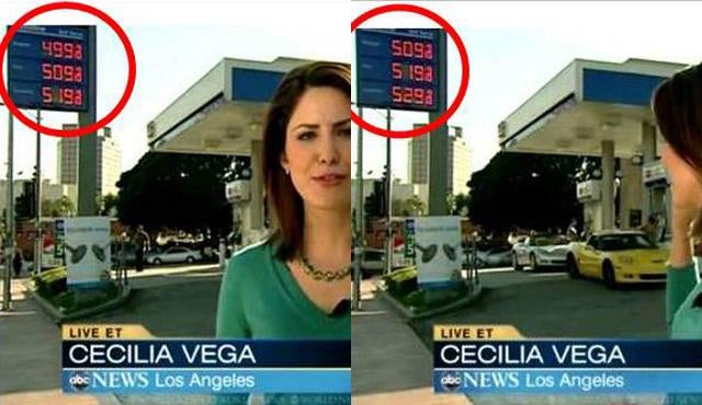 Watch A Gas Station Change Prices During Live National TV Broadcast As Two Corvettes Roll Up