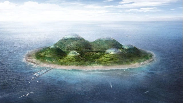 What do you do with the soil from your canal project? Why not build a futuristic island?