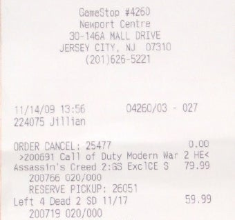 Jersey GameStops Break Street for Assassin's Creed II, L4D2