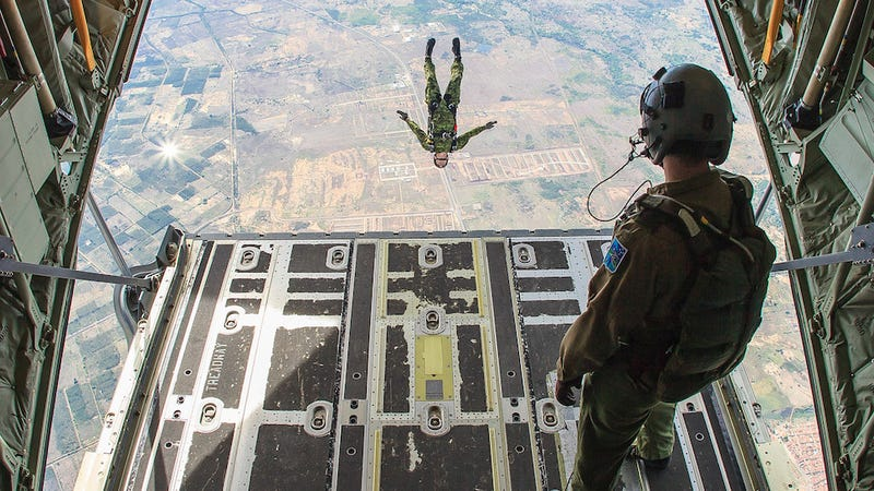 Being a paratrooper looks way more fun than any other job