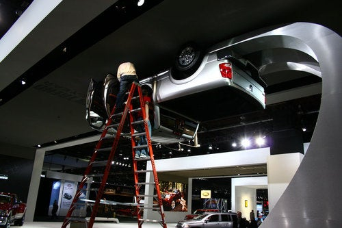 Dodge Ram On Ceiling: Detroit Show Live Photos
