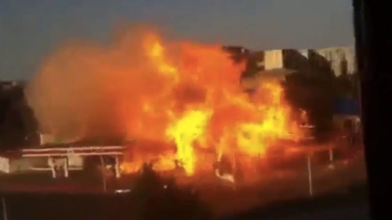 Watch This Russian Gas Station Explode In A Massive Fireball