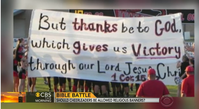 Texas Cheerleaders Still Begging Courts to Let Them Cheer for Jesus