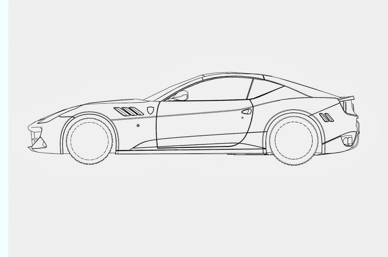 法拉利车的简笔画