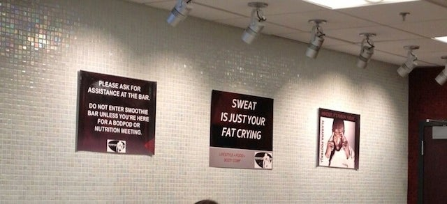 """Sweat Is Just Your Fat Crying,"" Says Weird Sign In Alabama Weight Room"
