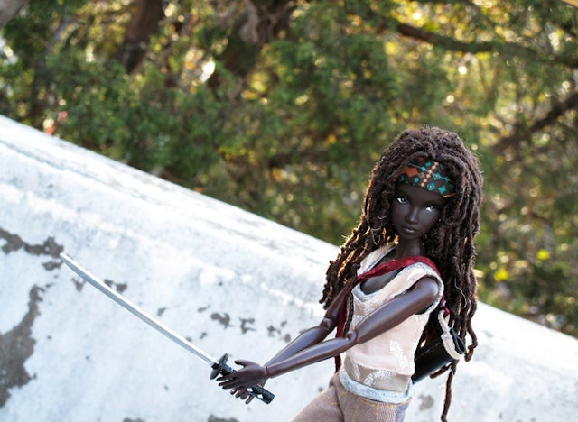 Oh my god why isn't this Michonne from The Walking Dead Barbie real