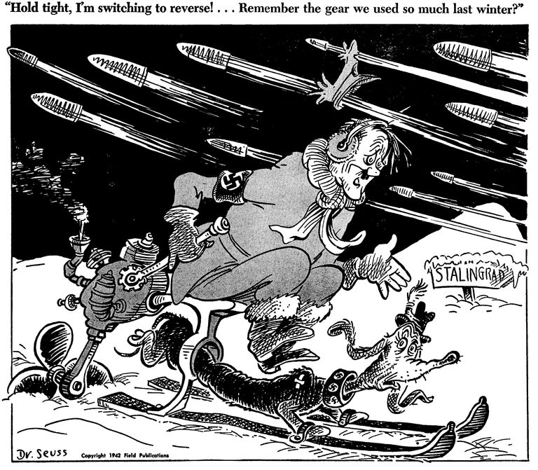 The extraordinarily surreal World War II editorial cartoons of Dr. Seuss