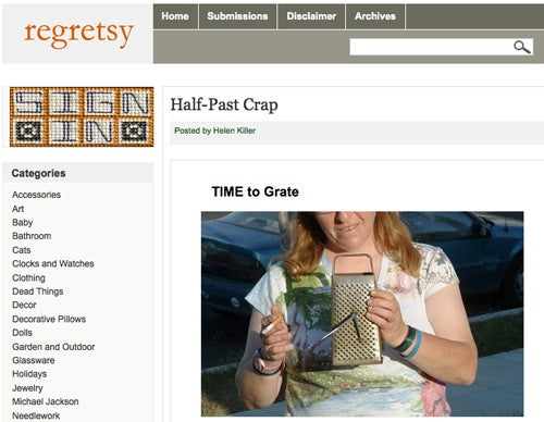 Regretsy: For Anyone Who Didn't See the Creepy Side to Making and Selling Your Own Crafts