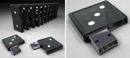 Domino Flash Drive Great For Storage, Gambiling and Toppling Not So Much