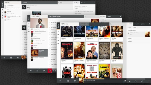 Chorus web front-end for XBMC