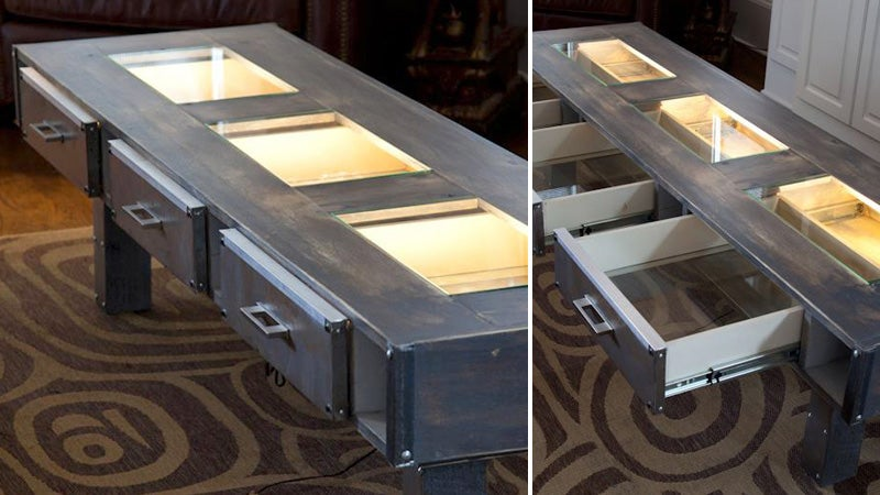 Glowing See-Through Drawers Reveal What's Inside This Table Before You Open It
