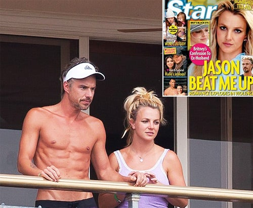 Britney Spears' Ex Says Her Boyfriend Beats Her