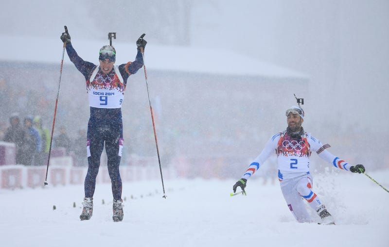 Biathlete Celebrates Early, Nearly Blows Gold