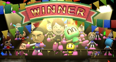 Bomberman Wii Screens Are Simple, Joyous