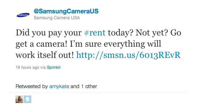 Samsung Says We Should Blow Our Rent Money on Cameras This Month