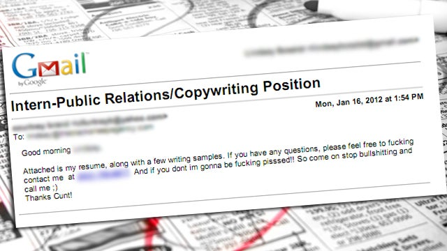'Please Feel Free to Fucking Contact Me': the Worst Cover Letter of All Time