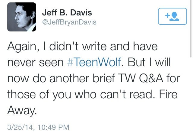 Teen Wolf related lolz on Twitter