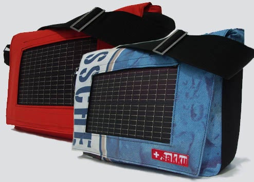 Sakku Solar Bags Made From Recycled Sails