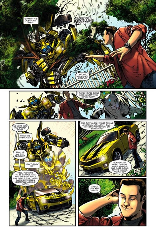 Bumblebee Rolls Out Into New Transformers Comic Preview