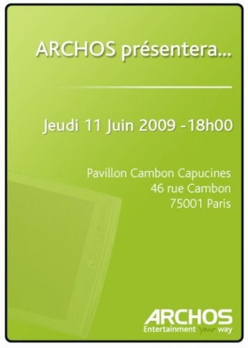 Archos Event Invitation Unsubtly Hints at Rumored Android MID