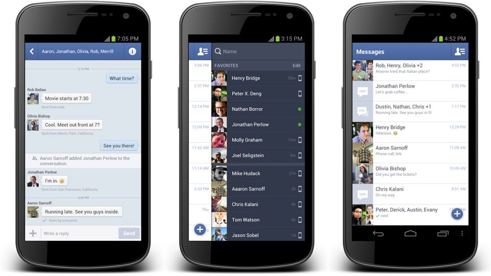 facebook phone application