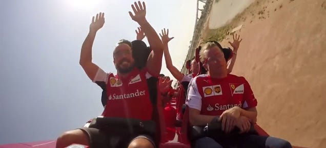 Kimi Räikkönen Is Not Impressed With This Roller Coaster