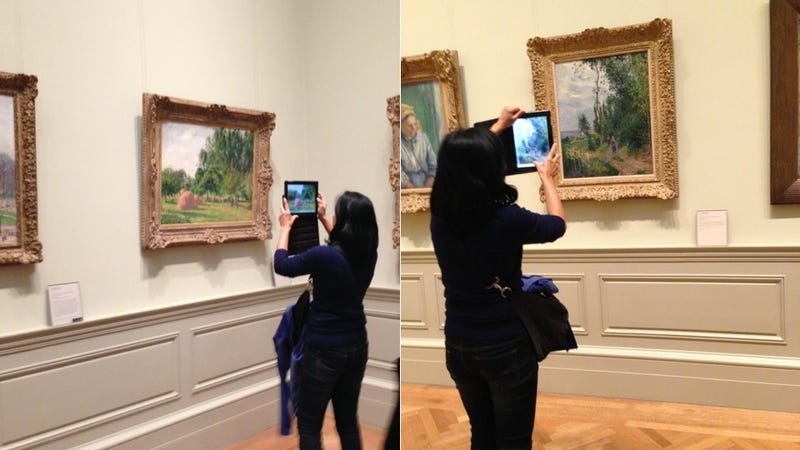 A Woman at a Famous Art Museum, Taking a Museum's Worth of iPad Photos