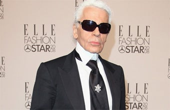 Karl Lagerfeld's Uniform Sure Takes up a Lot of Room