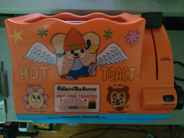 Act Fast, And You Can Own This Rare PaRappa The Rapper Toaster