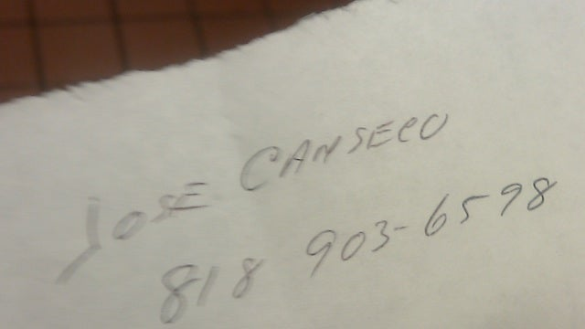 Jose Canseco Is Striking Out With The Young Women Who Work At A Restaurant In Worcester, Mass., Too