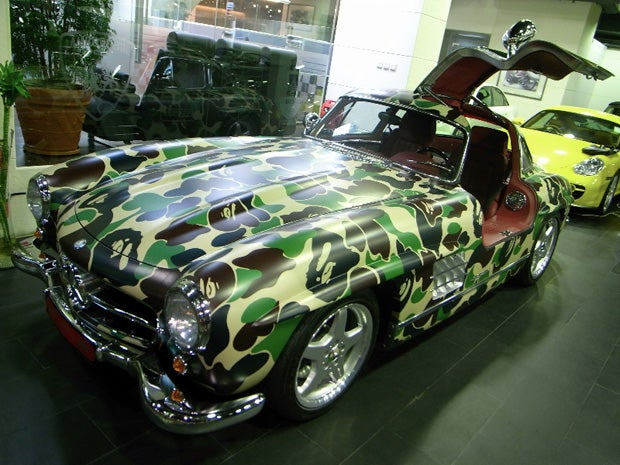 AMG-Built BAPE Fashion Mercedes 300SL Gullwing, Weep For History