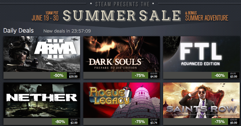 Steam Summer Sale Day 5, Buy 2 Wii U Games and Get 2 Free, FTL