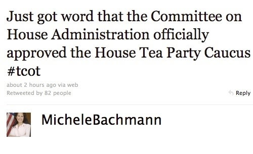 Michele Bachmann's Tea Party Caucus Approved