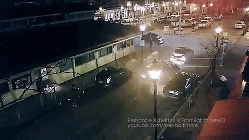 Bar Fight Ends In Driver Ramming Other Cars, People On Baltimore Street