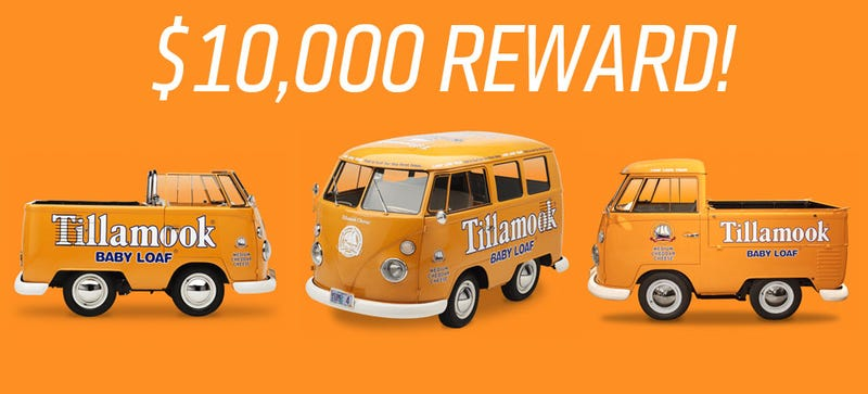 Some Moron Stole Tillamook's Three Shortened Cheese-Themed VW Buses