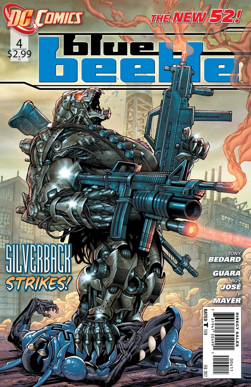Read an exclusive sneak peek of the next issue of DC Comics' Blue Beetle!
