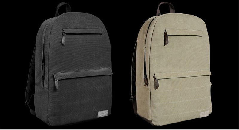 Class Up Your Book Bag With Washed Canvas and Wool