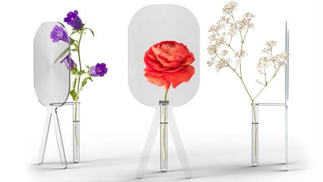 Magnifying Glass Vase Greatly Exaggerates Your Gardening Skills