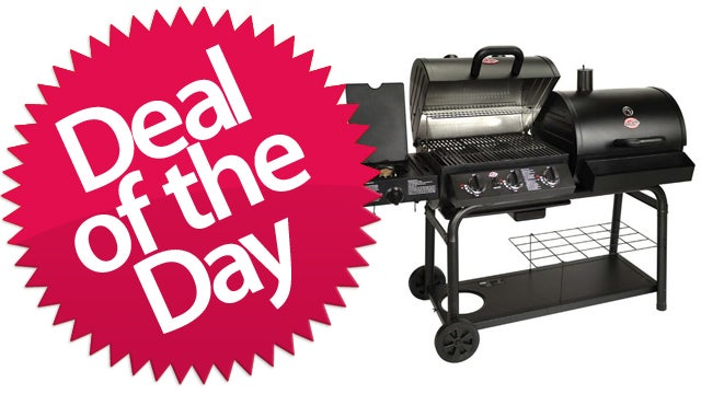 This Gas And Charcoal BBQ Is Your Grill-Baby-Grill Deal of the Day